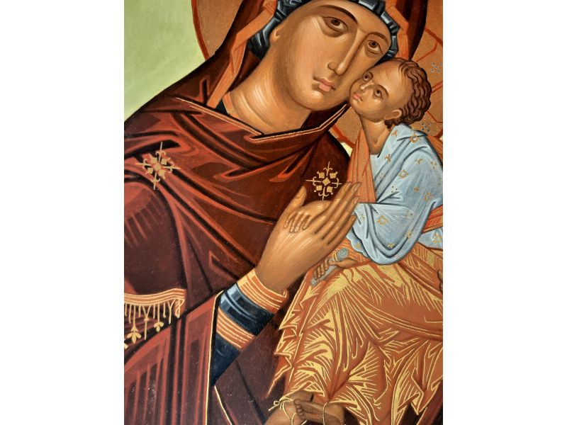 Mother of God of the Veneto-Cretan school 24x32 cm