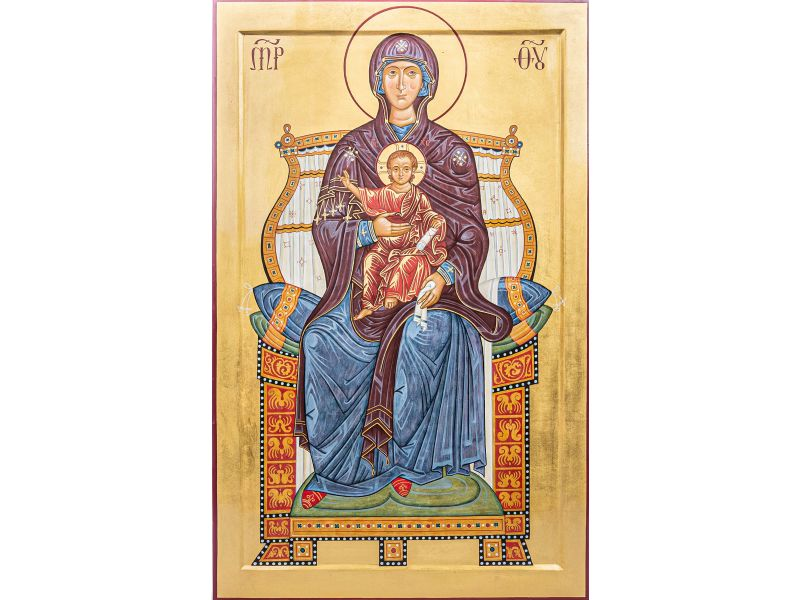 Mother of God enthroned 36x58 cm