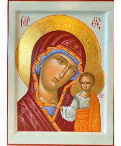 Icon Mother of God of Kazan 21x28 cm