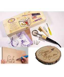 pyrograph with 5 points, box and accessories