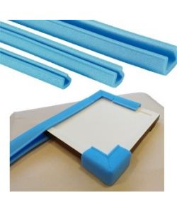 Kit with 4 corner pieces and 2 profiles of 1 meter, in PE foam