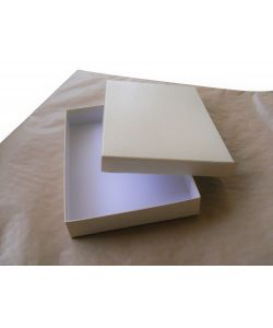 Elegant coated boxes color ivory