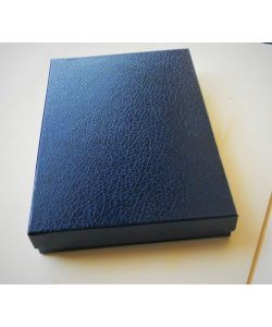 Elegant coated boxes color dark blue