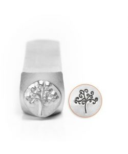 Punch in carbon steel, professional quality, TREE OF LIFE 9.5 MM
