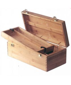 Wooden trunk, 40x20 cm h.15, with handle, closure and internal compartments