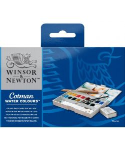 Set of 16 Winsor & Newton watercolors with accessories (Cotman)