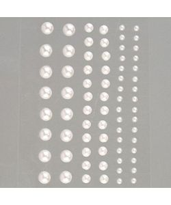 Half-pearls, self-adhesive, mother of pearl imitation diameter 3-5-7 pieces 72